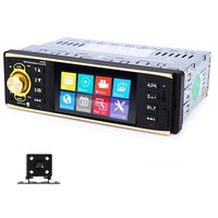 4.1 inch 1 Din Car Radio Auto Audio Stereo 1Din USB AUX FM Radio Station Bluetooth Remote control with Rearview Camera