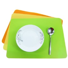 Rectangle 30*40cm Silicone Place Mats Heat Resistant Non Slip Table Mats