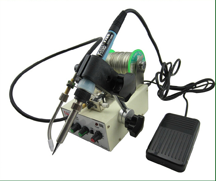 Automatic tin feeding machine constant temperature soldering iron Teclast iron multi-function foot soldering machine 1pcs automatic soldering iron machine tin feeding constant temperature soldering iron pedal soldering machine fixed type iron