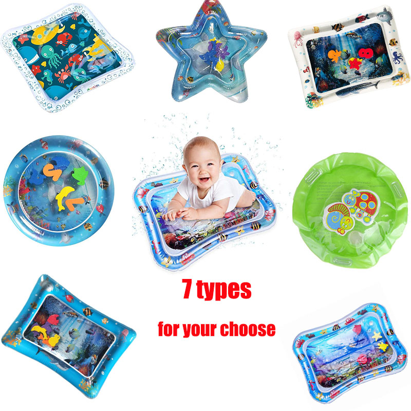 Water Mat For Baby Baby Playmat Toddler Inflatable Infant Tummy Time Inflatable Water Mat For Babies Toddler Fun Activity Play