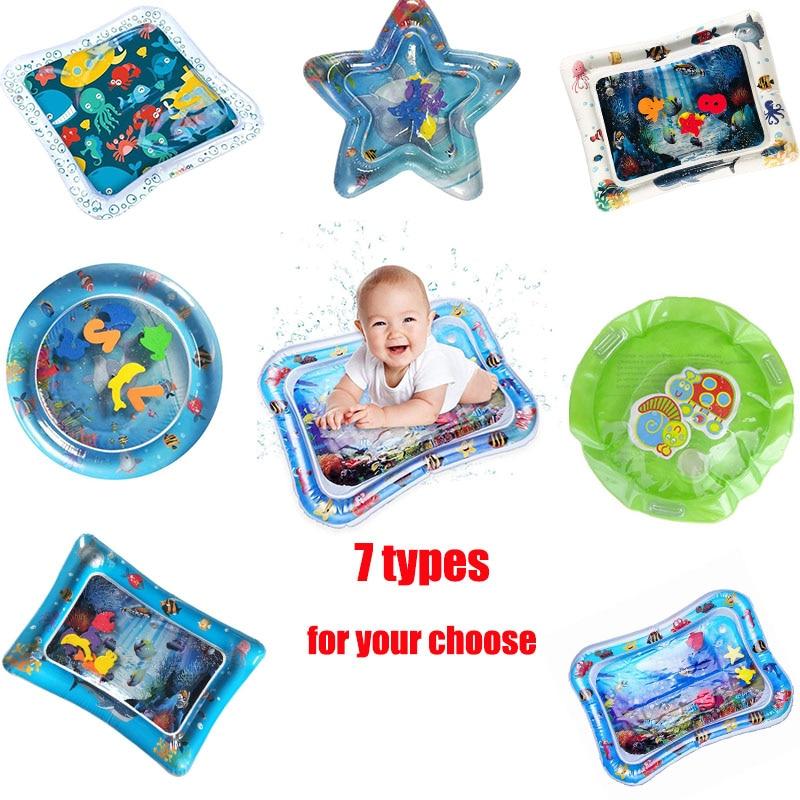 Water Mat For Baby Baby Playmat Toddler Inflatable Infant Tummy Time Inflatable Water Mat For Babies Toddler Fun Activity Play