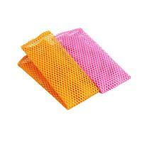 Paños de red para lavar platos, 2 uds., estropajo de secado rápido, telas para lavado de platos, paños de limpieza de cocina, color amarillo + rosa