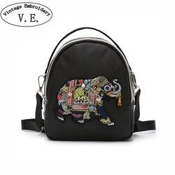 Новинка 2019, женские сумки с вышивкой слона, женские повседневные дорожные сумки-мессенджеры, женская сумка на плечо, Sac Bandouliere Femme
