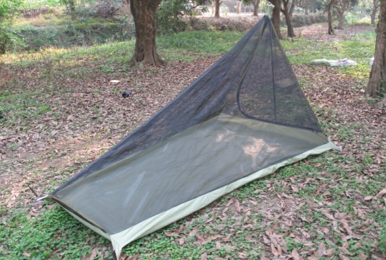 600G Ultralight Outdoor c&ing tent with mosquito net Summer 1 2 people Single tents travel without any poles bottom army green-in Tents from Sports ... & 600G Ultralight Outdoor camping tent with mosquito net Summer 1 2 ...