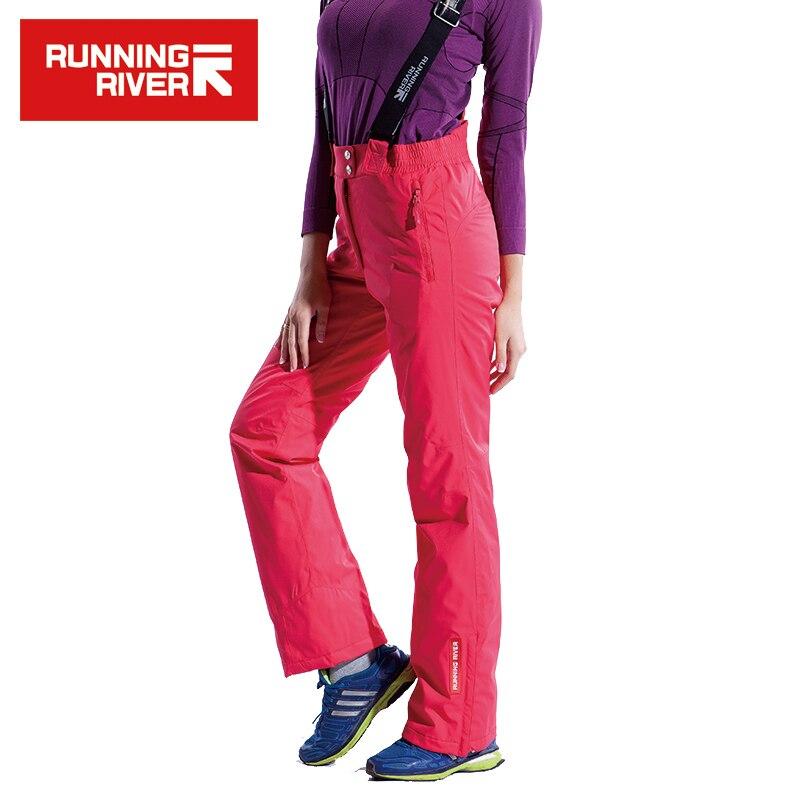 FIUME che scorre Marca di Alta Qualità Delle Donne Pantaloni Da Sci Con Spallacci 6 Colori Caldo di Inverno Delle Donne Ansima Il Formato S-3XL # B5063