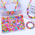 Kids Toy DIY Handmade String Beads Plastic Block Kits Girl Jewelry Colorful Necklace Toys Exercise Development Educational Toys