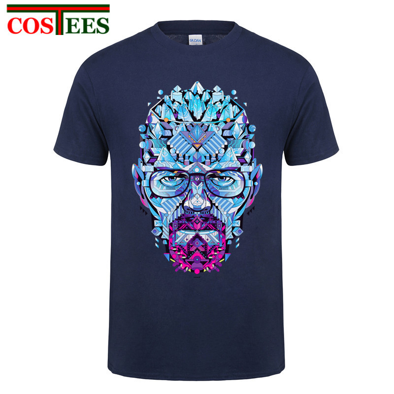 Male T Shirt brand clothing hipster Los Pollos Hermanos Heisenberg  Geometric Men T Shirts Funny Chicken 8701ee465156