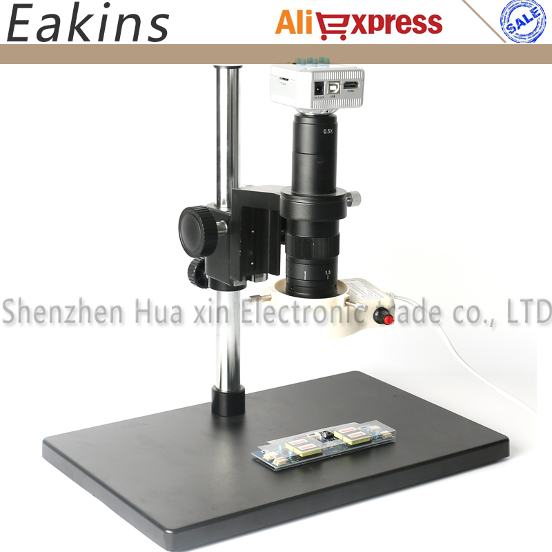 Full set HD 16MP 1080P HDMI USB Industry Video Inspection Microscope Camera Digital Magnifier Professiona Repair phone PCB блузка