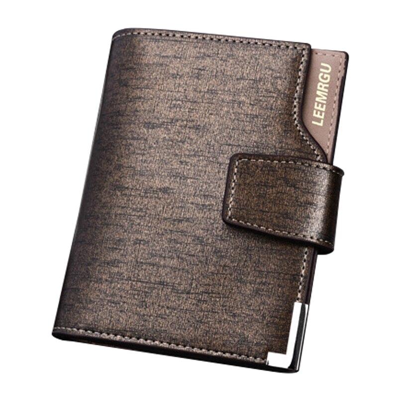 Men Wallet Leather Card Coin Holder Hot Sale 2017 Three Fold Black High Quality Clip Fashion Cash Pocket Male Purse Portomonee star u930 black x920 three sim card