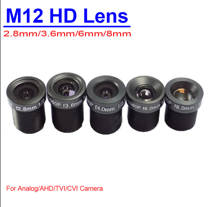 Security CCTV Camera Lens Surveillance M12 Fixed Monofocal Lens Wide Angle 2.8mm 3.6mm 6mm 8mm Lens For Analog AHD  Cameras