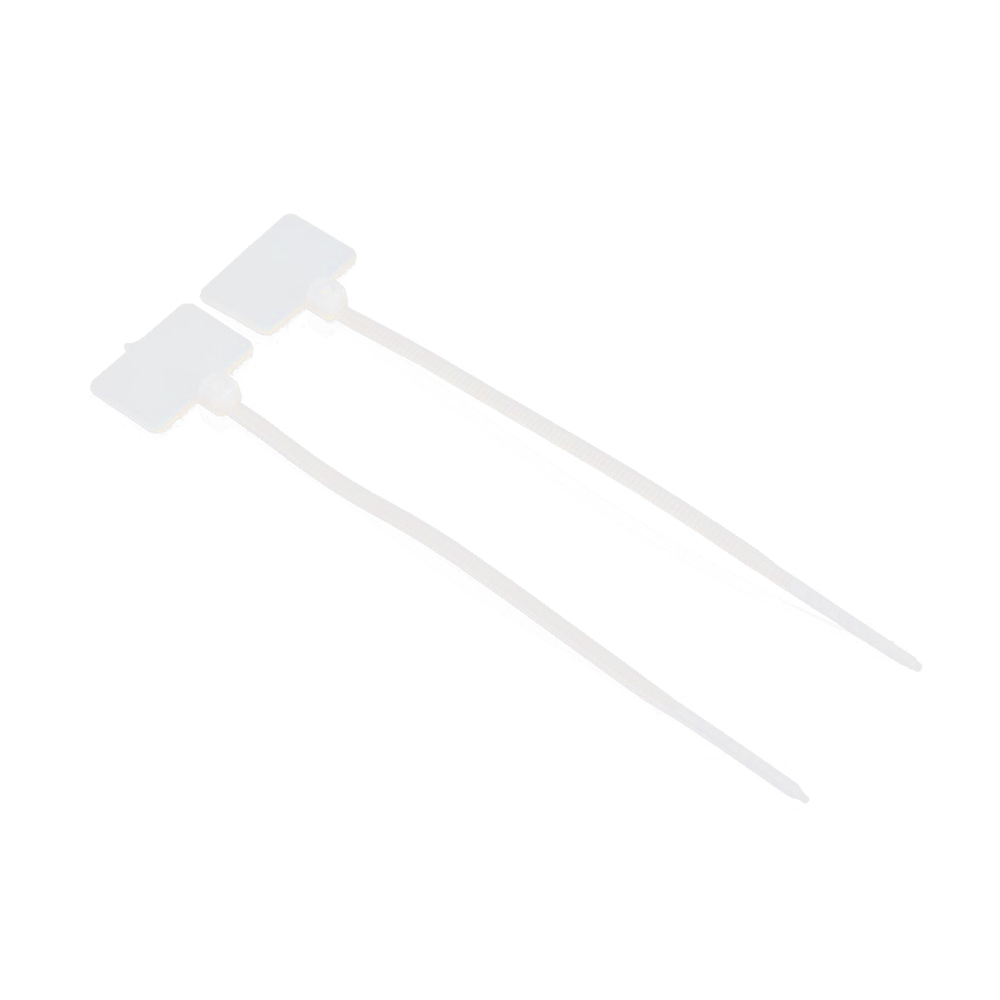 LIXF HOT 100Pcs Zip Ties Write On Ethernet RJ45 RJ12 Wire Power Cable Label Mark Tag