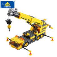 380 + pcs ville série blocs de Construction 3D grue modèle blocs assemblage bricolage Construction briques Construction jouets pour enfants enfants cadeau