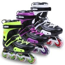 DLF F5 Slalom Inline Skates3 Colors Adult Skating Shoes PU Wheels For Free Skating Sliding Street Skating