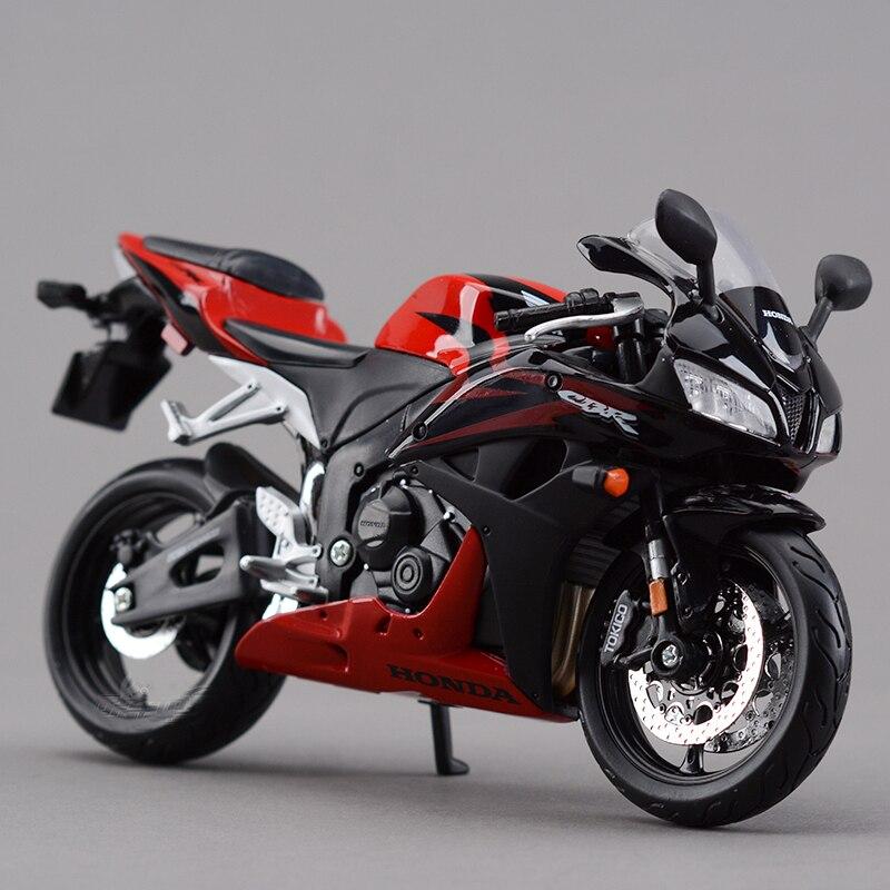MAISTO Modèles de Moto CBR 600RR Rouge 1:12 échelle Moto Diecast Metal Miniature De Moto Course Jouet Pour Le Cadeau Collection