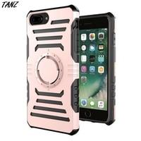 Armure Hybride Double Couche de Silicone En Plastique Dur cas de Téléphone Pour iPhone 6 6 S 7 plus Multifonction Gym Sport Courir Coque couverture