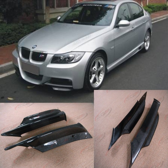 E90 M-tech Carbon Fiber Front body kit Splitter Aprons Cupwing Fit for BMW 3Series E90 M-Sport 2005-2008