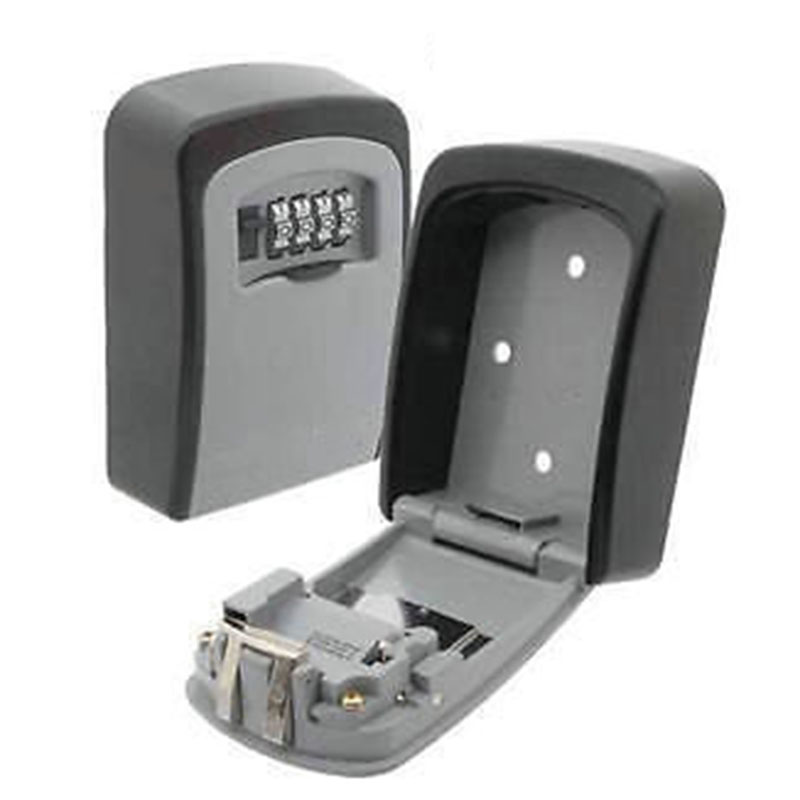 Key-Storage-Box-Digit-Wall-Mount-Combination-Lock-Four-Password-Keys-Safe-Box-Aluminum-Alloy-Material