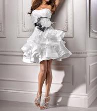 free shipping 2014 new fashion vestido de noiva bride formal plus size casamento elegant short party wedding Dress bridal gowns цена