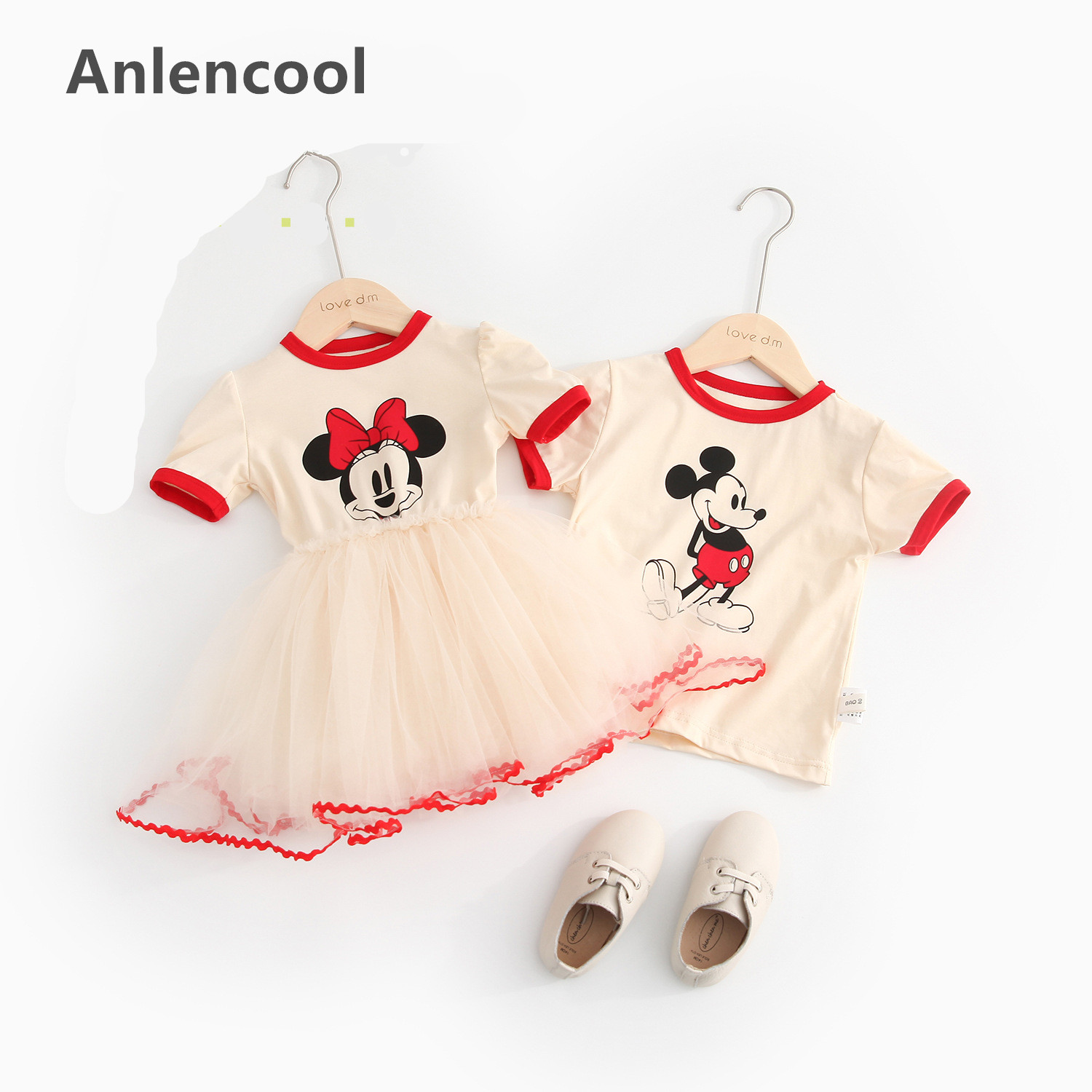 Anlencool Minnie & Mouse Clothes Set Kids Baby Girls Boys New Summer Outfits Clothes Short Sleeve T-shirt Tops Tutu Party DressAnlencool Minnie & Mouse Clothes Set Kids Baby Girls Boys New Summer Outfits Clothes Short Sleeve T-shirt Tops Tutu Party Dress