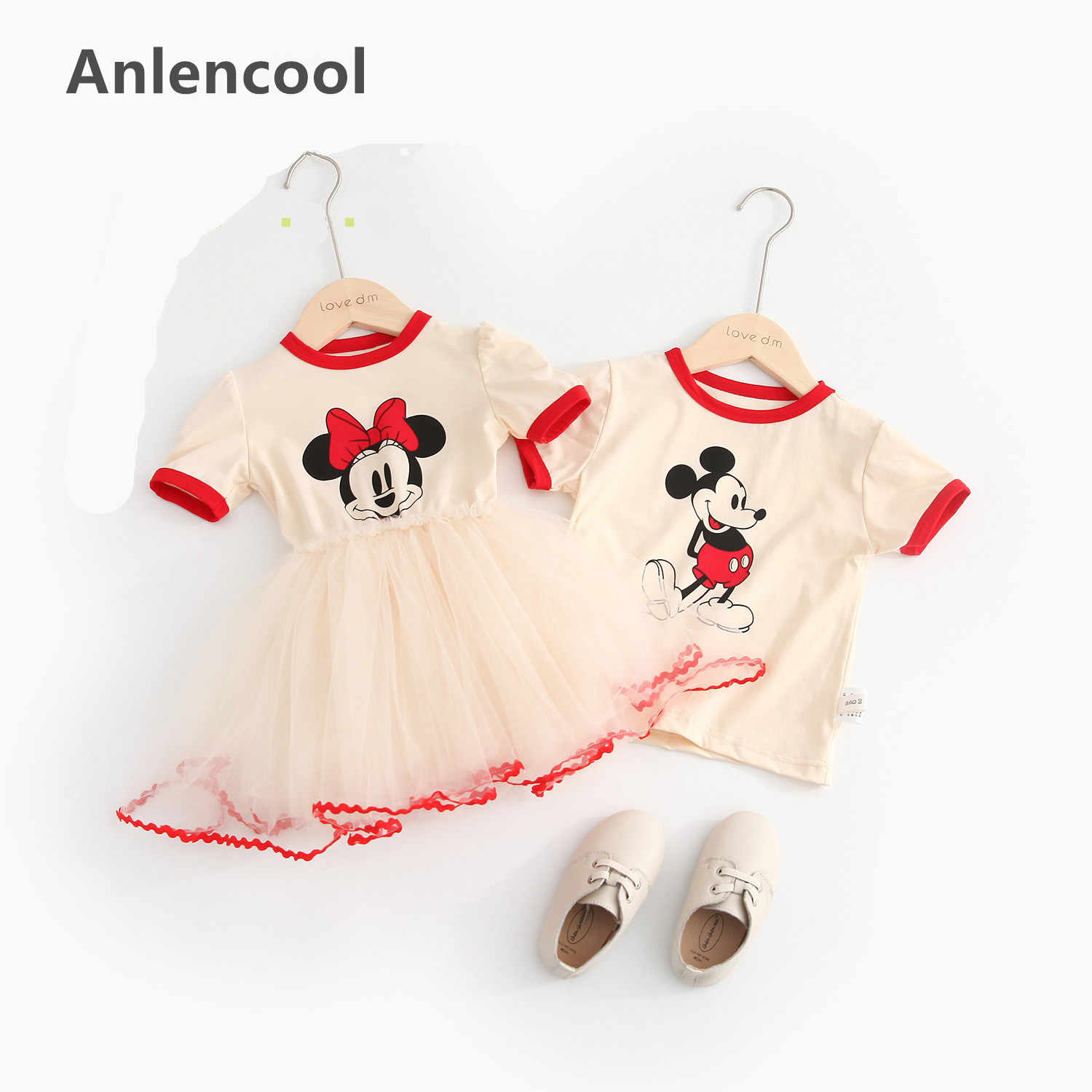 0888a4ed Anlencool Minnie & Mouse Clothes Set Kids Baby Girls Boys New Summer  Outfits Clothes Short Sleeve T-shirt Tops Tutu Party Dress