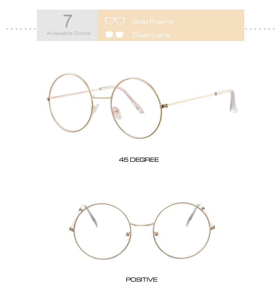 Women's Round Mirror Sunglasses 16