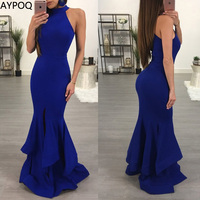 Summer Sexy Night Club Women Dress Long Lotus Leaf Sleeveless Tight Fasion Elegant Party Evening Bodycon Vestidos De Fiesta