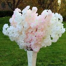 100cm Simulation Kirschblüte Zweig Gefälschte Blume Verschlüsselt Band Kunststoff Seide Zweig Blume Hochzeit Dekoration Hause Täglichen Decor