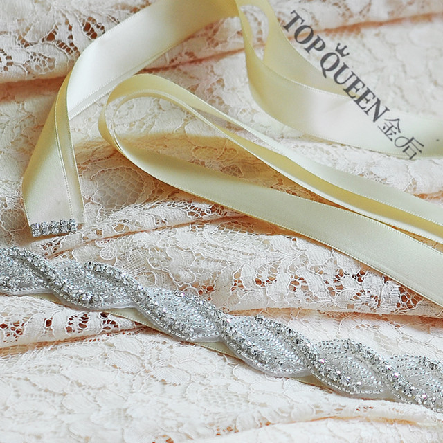 TOPQUEEN S272 Free shipping Wedding Dress Belt  Crystal Rhinestone Bridal Sash  Wedding Dress Accessories
