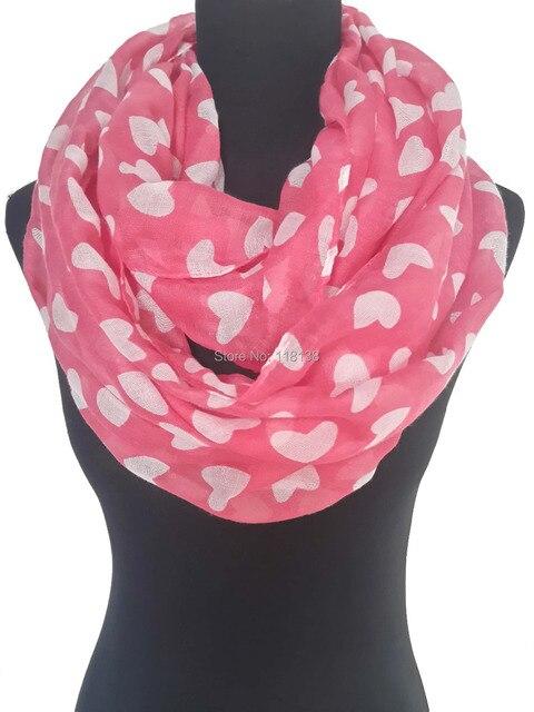 online shop love heart print infinity loop scarf valentines