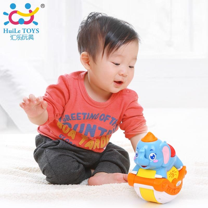 HUILE TOYS 3105C Baby Toys Musical Sliding Animals Elephant with Lights & Music Electronic Toys Pets Toys for Children Boy Gifts хочу автомобиль б у в волгограде газ 3110 или 3105