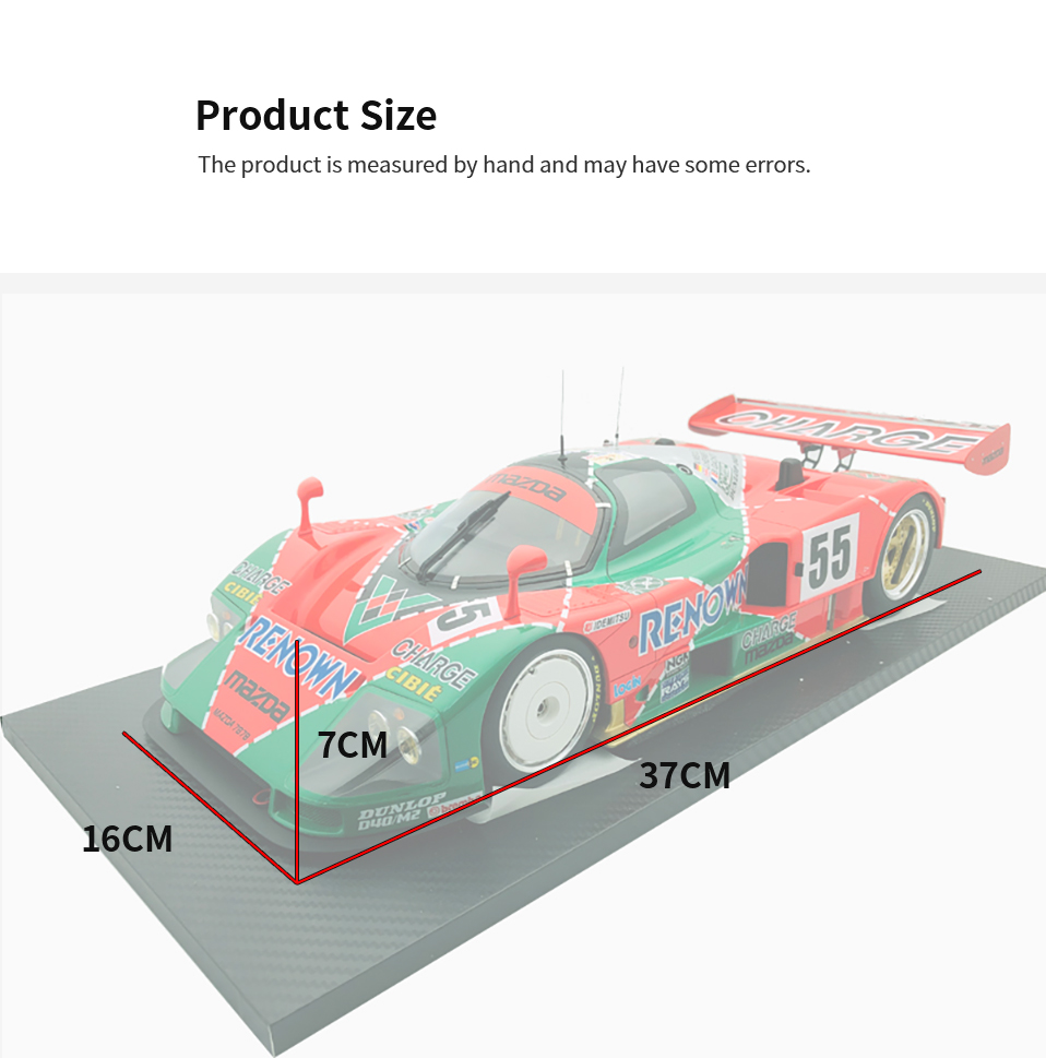 Diecast 112 car Toys For Boys red Mazada Diecasts Toy Vehicles 787B abs children Birthday Gift Model Car (1)