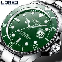 LOREO New 200M Waterproof Mens Sport Watch Luxury brand Automatic