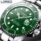 LOREO New 200M Waterproof Mens Sport Watch Luxury brand Automatic Mechanical Watch Sapphire Screw Crown Rotatable Bezel Luminous