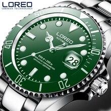 LOREO nuovo 200M orologio sportivo da uomo impermeabile marchio di lusso orologio meccanico automatico zaffiro vite corona lunetta girevole luminosa