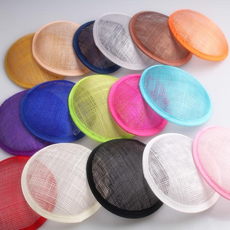 13 センチメートルラウンド SINAMAY 魅惑的なベース fascinators 作る最適赤パーティー帽子 30 ピース/ロット送料無料複数の色選択  グループ上の アパレル アクセサリー からの フェドーラ の中 3