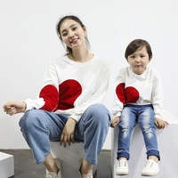 Mother Daughter Clothes Family Matching Outfits Mama and Kids Children Clothing Love Sweater Mother Daughter Autumn Outwear