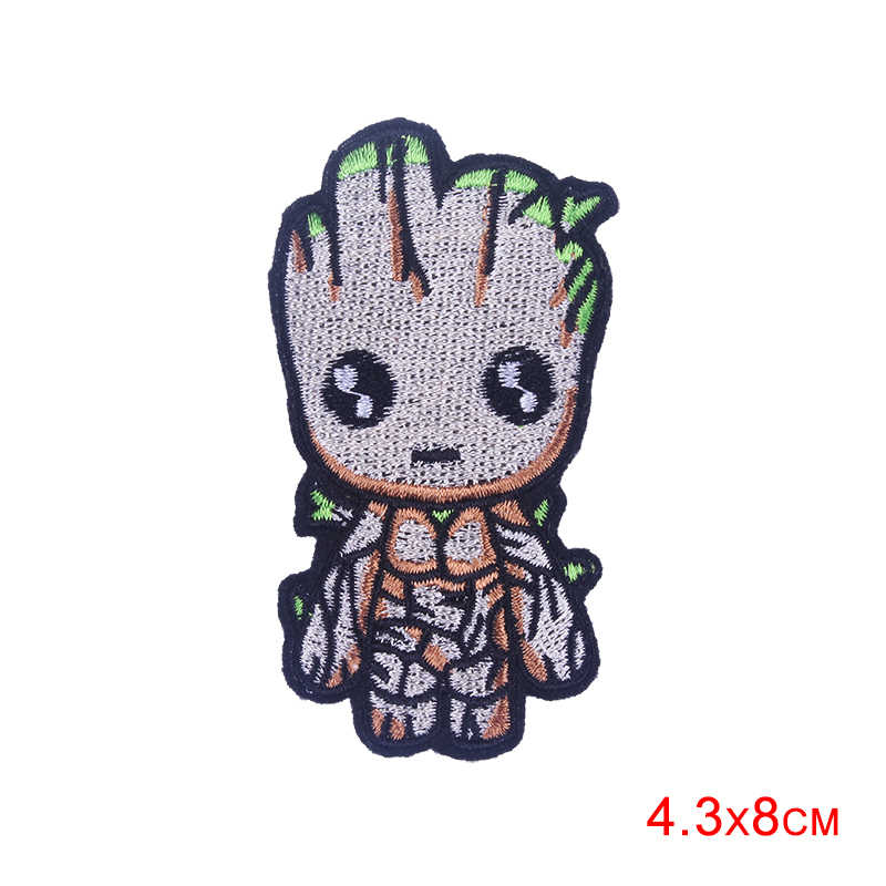 Pulaqi Cute Cartoon Unicorn Guardians The Galaxy Patches For Backpack Iron On Patch DIY For Kids Clothing Tree Man Decoration F