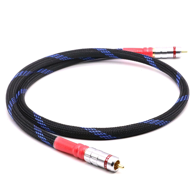 Alta qualidade de Cobre OFC coaxial digital de cabo de áudio digital de alta fidelidade RCA CABO de 1 m