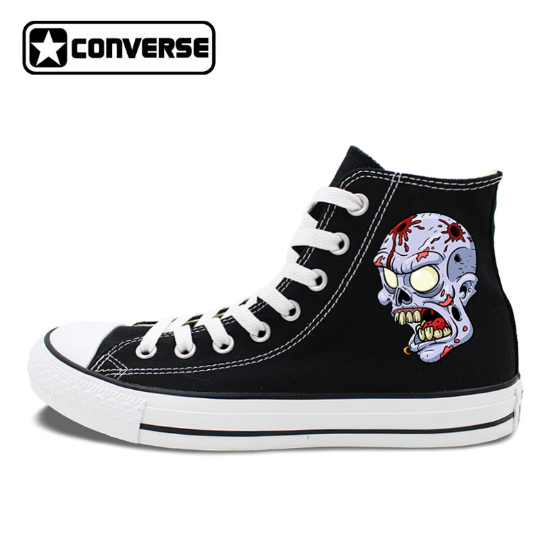 Monster Zombie Skull Eye Balls Design Original Canvas Shoes Men Womens Halloween Gifts Converse Chucks Taylor Sneakers canvas shoes lace up sneakers athletic original design skull bird house white converse black chucks taylor men women pumps
