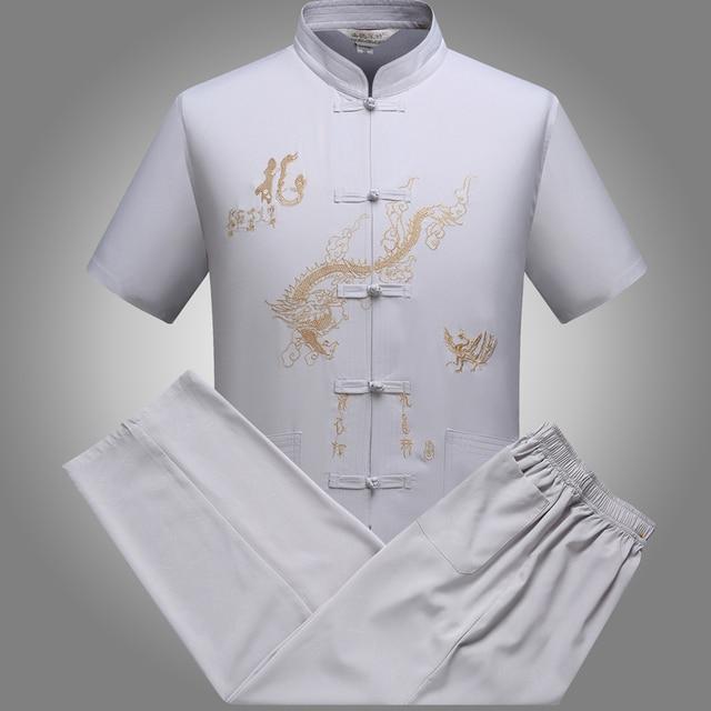Wing chun ip man e desgaste roupas kungfu bruce Lee bordado dragão tang terno tai chi
