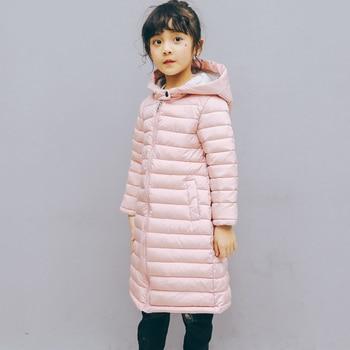 Детские зимние куртки для мальчиков, длинная куртка, пальто с хлопковой подкладкой для девочек, детская парка, теплая верхняя одежда с капюш... >> BEEBILLY Official Store