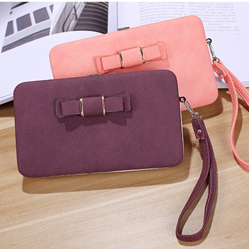 Luggage & Bags Diligent 2018 New Fashion Sweet Women Pu Leather Bowknot Wallet Long Card Holder Purse Phone Box Handbag Bag Wml99 Women's Bags