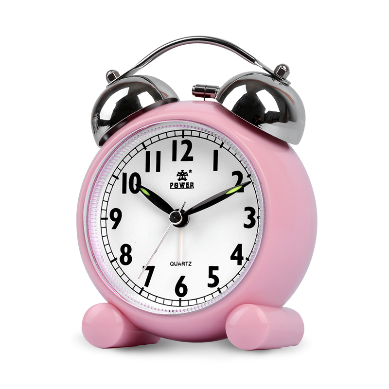 Modern Fan Alarm Clock Pupils Mute Creative Children Snooze Bedroom Bed Cute Simple Mute Walking Mechanical Ringing Sound