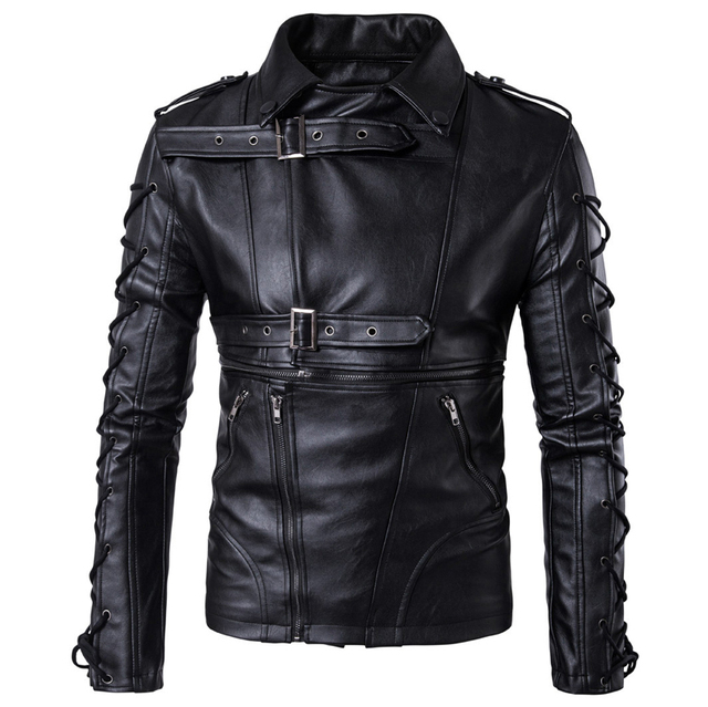 caab51ba65bd 2017 New Arrivals European Brand Designer Men Automotive Leather Jacket and Coats  Imported China Mens Faux Leather Coats C1014