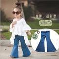 New Girl Pants Kids Fashion Leggings For Girls Blue Jeans Bell Style Girl Leggings Casual kids Denim Pants