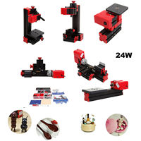 Yonntech Mini Klassische Drehmaschine maschine 6 in 1 Werkzeuge Grinder Saw Bohrer Metall Holz Miller