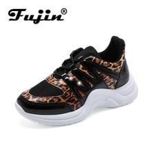 Fujin Sneakers Women 2019 Breathable Mesh Casual Shoes Female Fashion Sneaker Women Vulcanize Shoe Platform Lace Up High Leisure цена