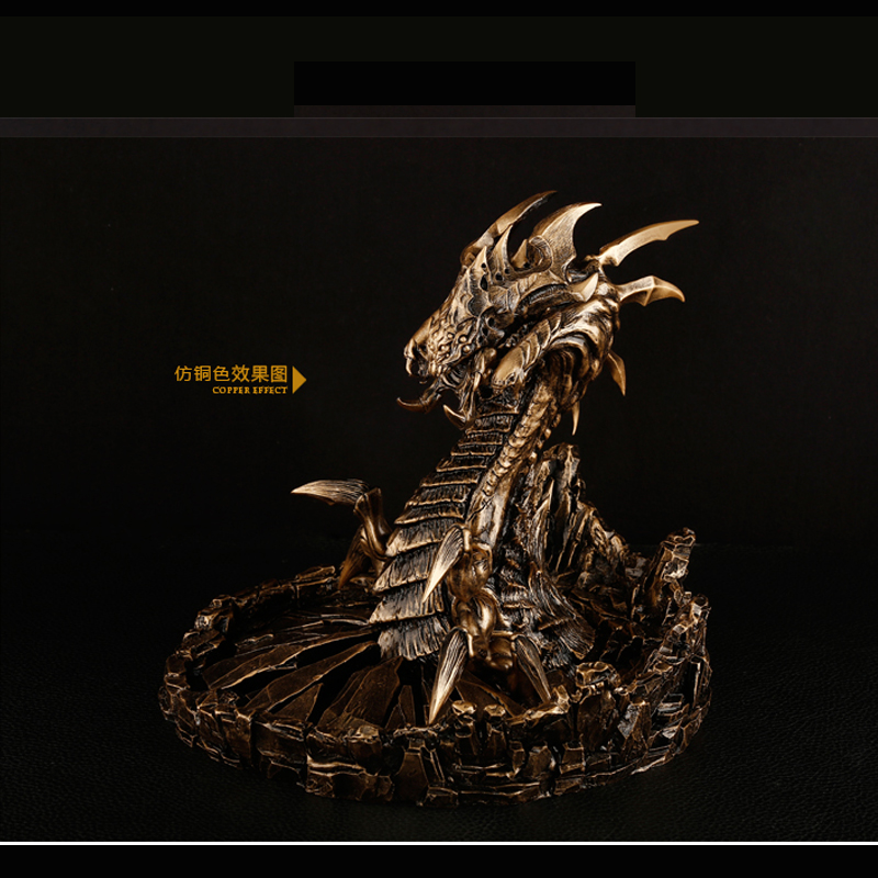 1/6 Resin Garage Kit Dragon Smaug Statue for Fans Collecition Holiday Gift hobbit smaug king under the mountain dragon mini statue weta collectables