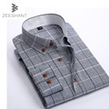 Camisa Cuadros Hombre Brand Clothing Dress Shirts Plaid Shirt Slim Fit Chemise Homme Men Shirt Heren Hemden Camisa Masculina