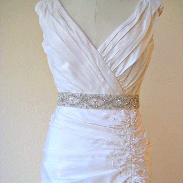 Wedding Dress Sash 2017 Handmade Sparkle Crystal Rhinestone Bridal Accessory Belt